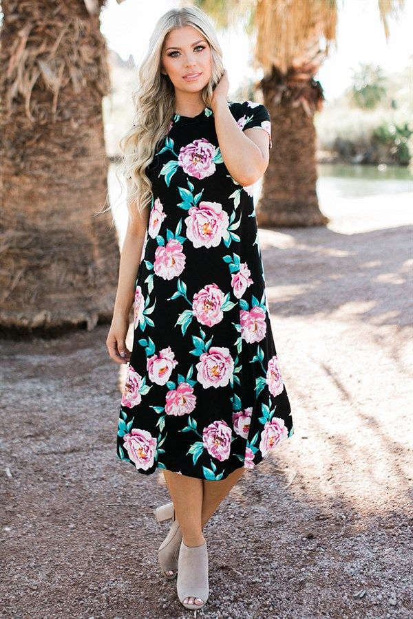 Floral Swing Dress | 4 Colors | Made in USA