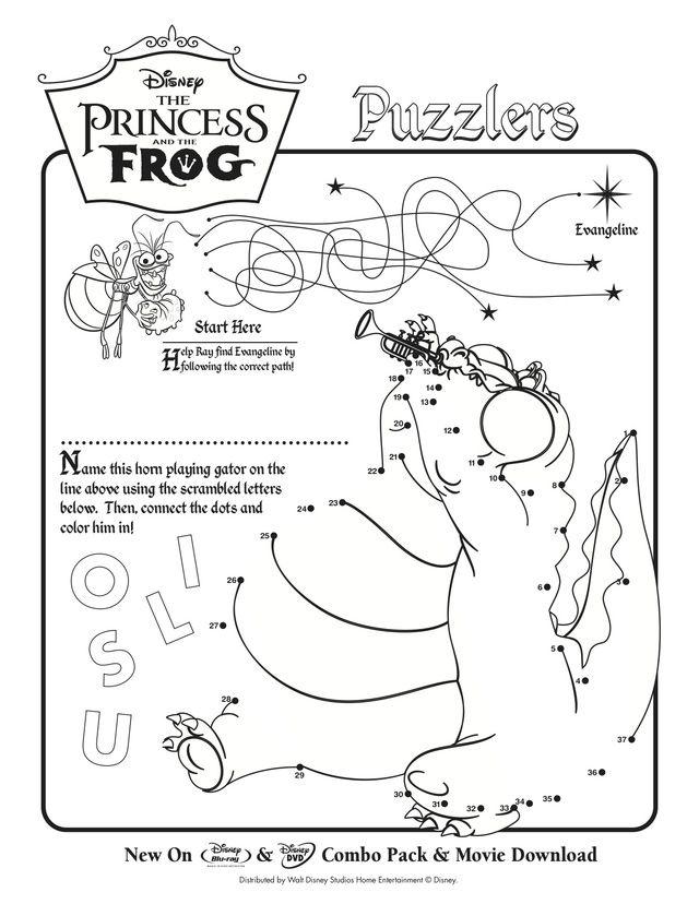 the princess and the frog printable activities the princess and the frog puzzles