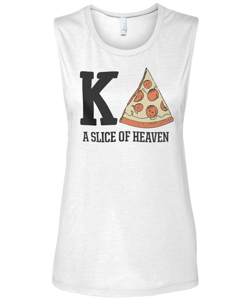 1071 Kappa Delta Pizza Muscle T-shirt