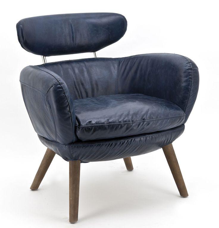 Zelena fauteuil blauw - Eleonora
