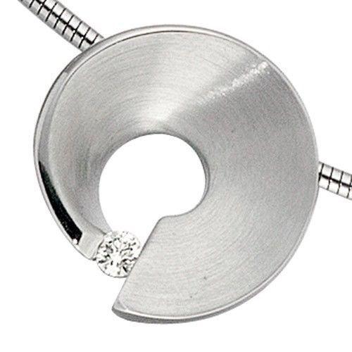 Conciliateur-Pendentif-avec-Diamant-Brillant-Or-585-Or-blanc-Collier-Femme