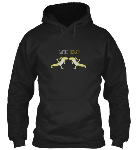 Battle Li Zard Black Sweatshirt Front
