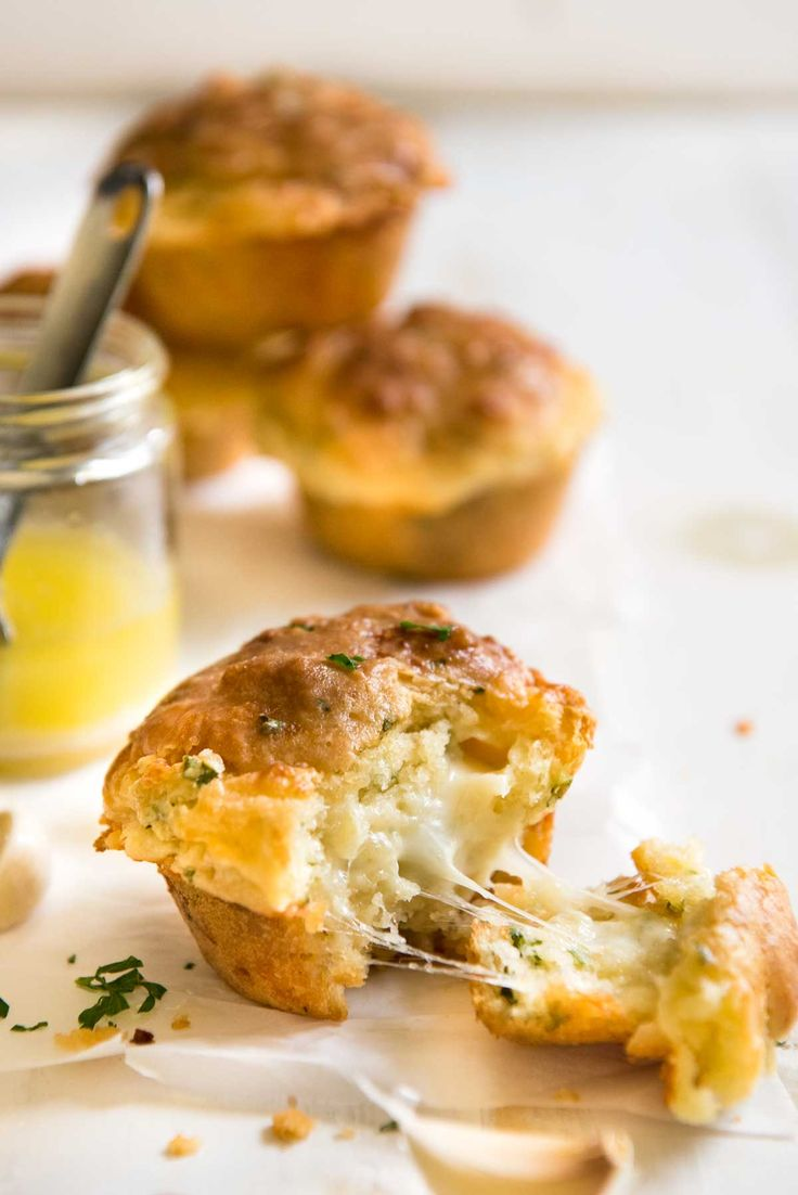 Cheesy, buttery and so moist, these taste like cheesy garlic bread - in muffin form!