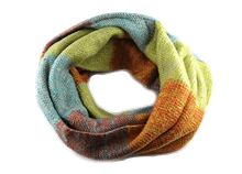 KittyKat Scarf - Dr Who - rust/lime multi