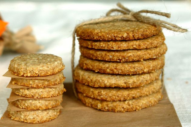 Ingredients that you will need: 100g wholemeal flour 100g rolled oats 1 tsp. spoon baking powder 50 g brown sugar 100 g salted butter soft 2 tsp. tablespoons milk So first we preheat the oven.Now c...