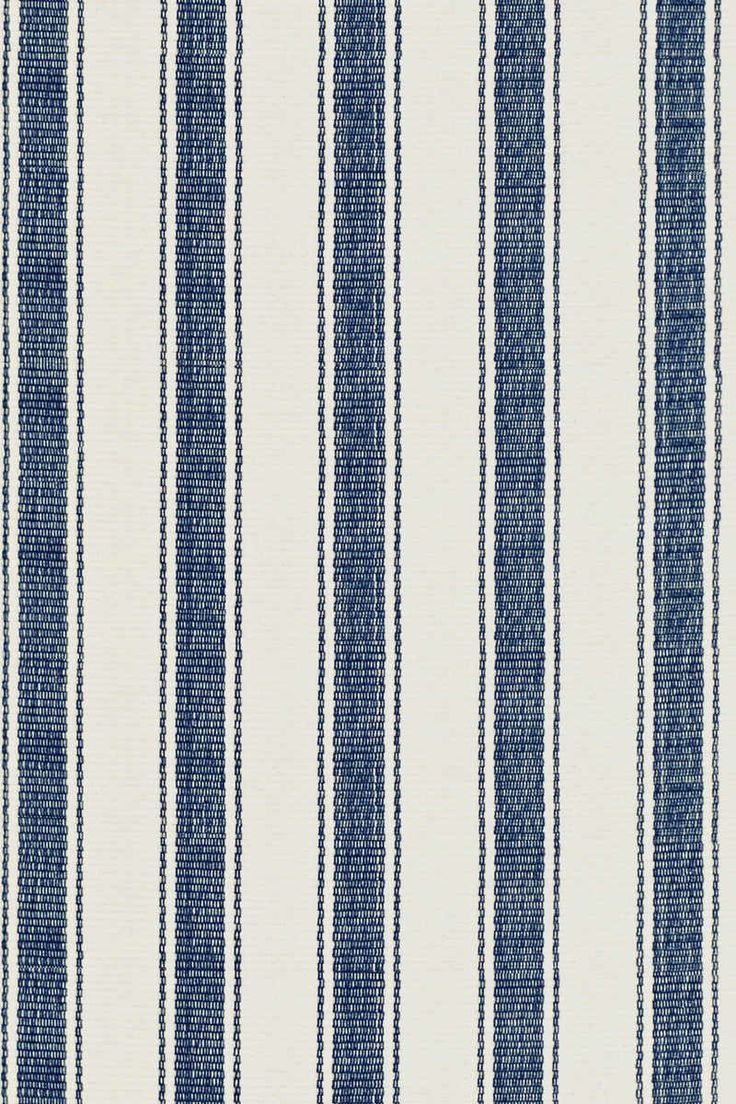 Hall Runner Blue Awning Stripe Woven Cotton Rug | Dash & Albert Rug Company