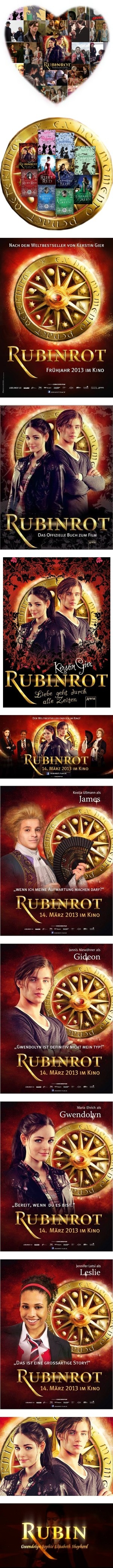 Rubinrot poster and picture board