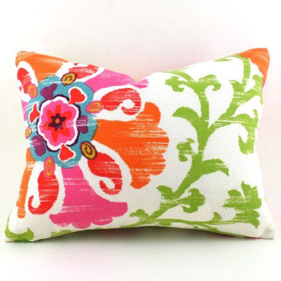 Outdoor/Indoor Lumbar Pillow Decorative Pillow Cover Pink Pillow P Kaufmann  Outdoor Silsila Lawn