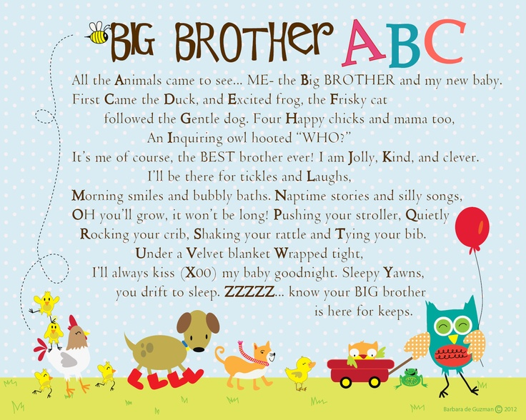 So Sweet A Great Gift For A New Big Brother Keeping