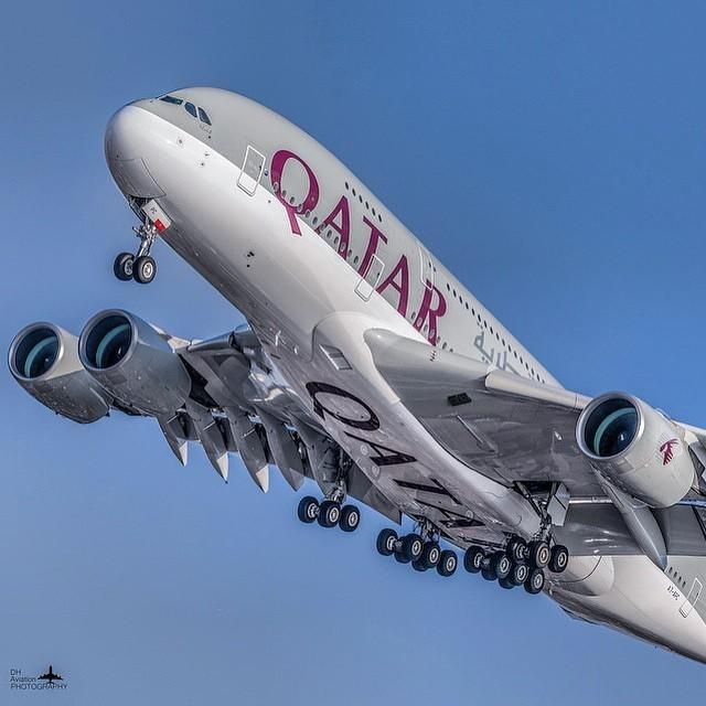 qatar airways airbus a380 by dhaviationphotography