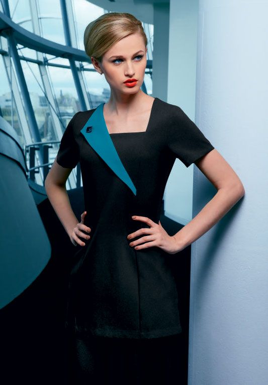 17 best beauty therapist hairstyles and uniforms images on for White spa uniform uk