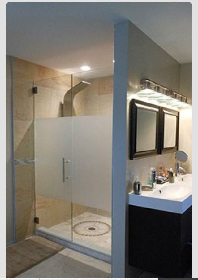 11 Best Frosted Shower Glass Images On Pinterest Bath Ideas Bathroom Ideas And Glass Bathroom