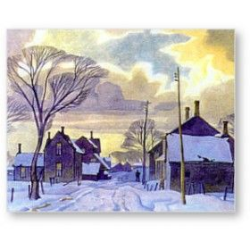 Winter in the Village 1938. AJ Casson. Group of Seven