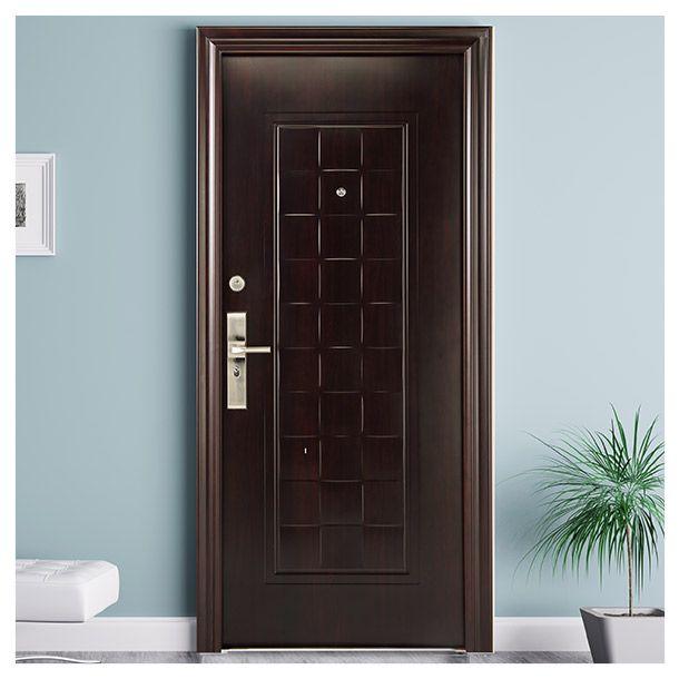 Puerta de seguridad acabado imitaci n madera solera de - Bisagras para puertas de madera ...