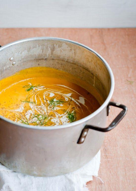 Sopa de Calabaza asado de Hinojo