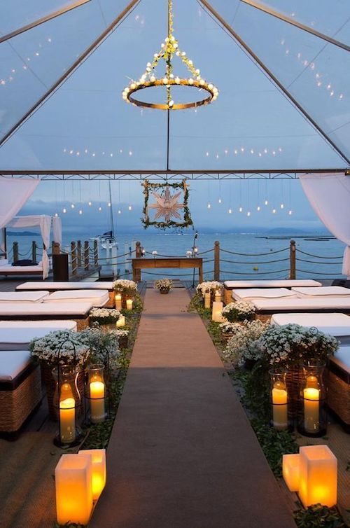 Breathtaking wedding tent decor for a beach wedding by Saint Morit's   #weddingdecor #beachwedding