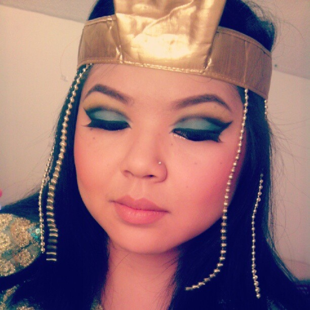 Testing Out My Makeup For Halloween Guess Who Im Going To Be Cleopatra HalloweenHalloween MakeupEgyptian MakeupKids Crafts