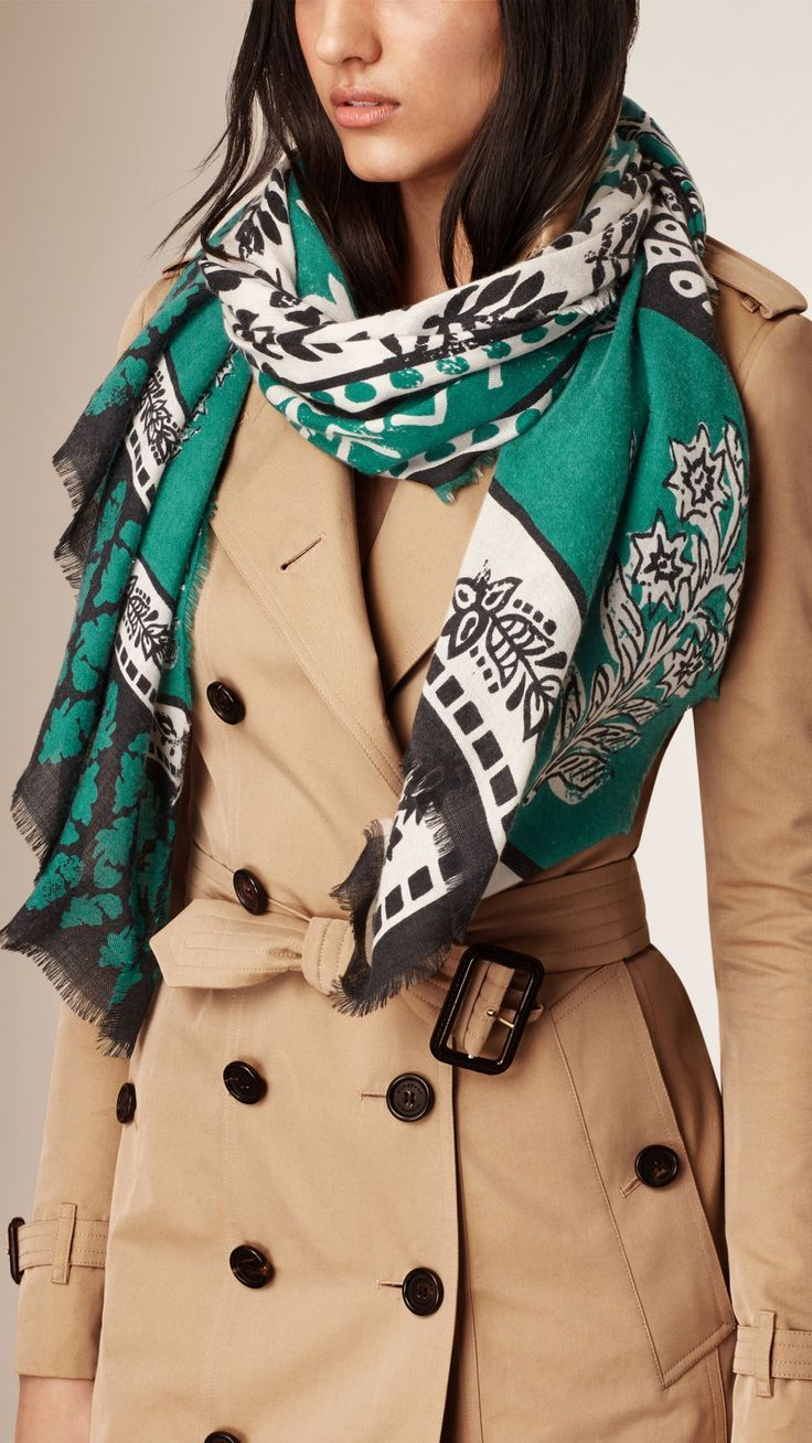 Patchwork Floral Print Cashmere Scarf | Burberry