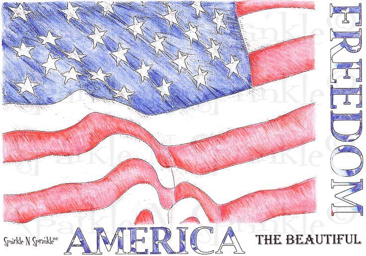 Patriotic Background - Rubber Stamp Set [00-434P4]