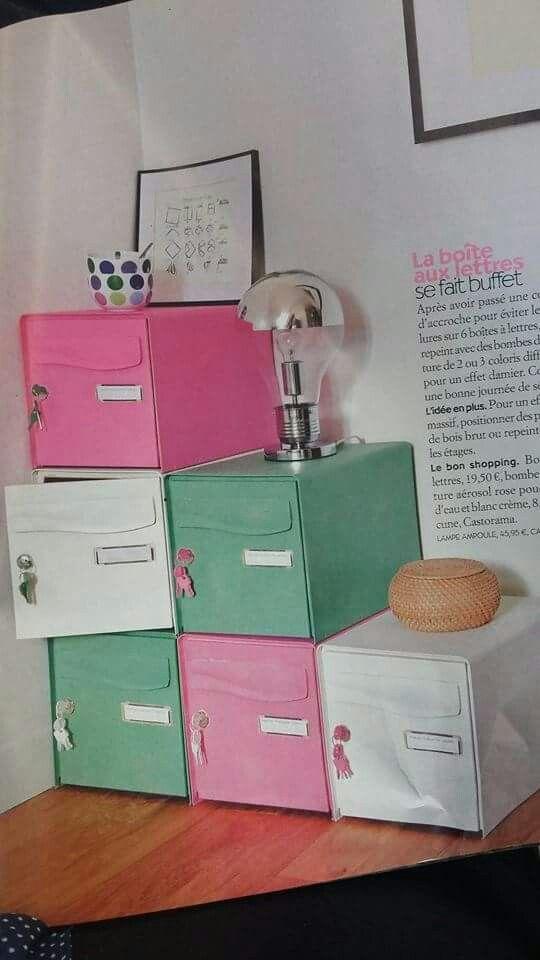 Idée rangement avec des boites aux lettres... ...