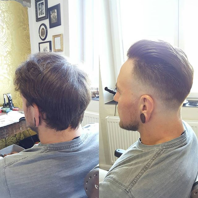 Before & After salonkomplizen #barber #barbershop #barbers #barbero #friseur #metzingen #tübingen #reutlingen #haarschnitt #hairstyle #hair #classic #barbier #hairdresser #haircut #haircolor #reuzel #taylorofoldbondstreet #davines #classichair #classichaircut #men #faded #pompadour #reuzel #wahl @davinesdeutschland  @davinesofficial  @reuzel @barbershopconnect @savillsbarbers @theoldschoolbarberacademy @barbershopconnect