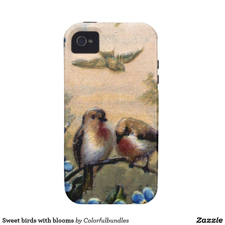 Sweet birds with blooms iPhone 4/4S cases