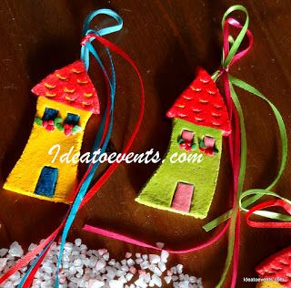 Home sweet little home hand made & hand painted Christening favors! Code N° MB0132