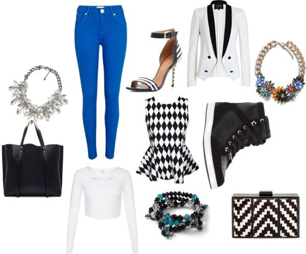Style scrapbook by daiisy-ox featuring white summer tops Shirts blouse societyofchic.com White summer top $12 - newlook.com River Island black and white tuxedo jacket $70 - riverisland.com River Island blue jeans $47 - riverisland.com Jimmy Choo leather shoes farfetch.com River