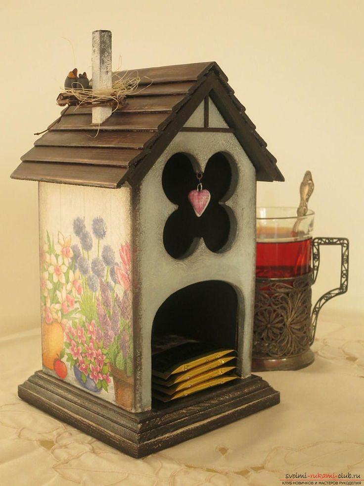 простой декупаж для чайного домика. Фото №4