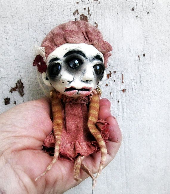 ooak Halloween Ornament Art Doll Decoration Jaycee by loopyboopy, $80.00
