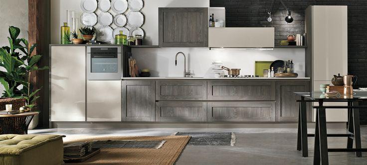 Le cucine componibili moderne di Stosa Cucina: si fanno notare per i cassetti con portaposate dalla moderne linee oblique, utilissimi e dal design raffinato#cucine #stosa #cassetti
