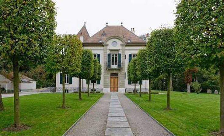 Switzerland: A deceptively modern mansion in the park. - Provided by Business Insider