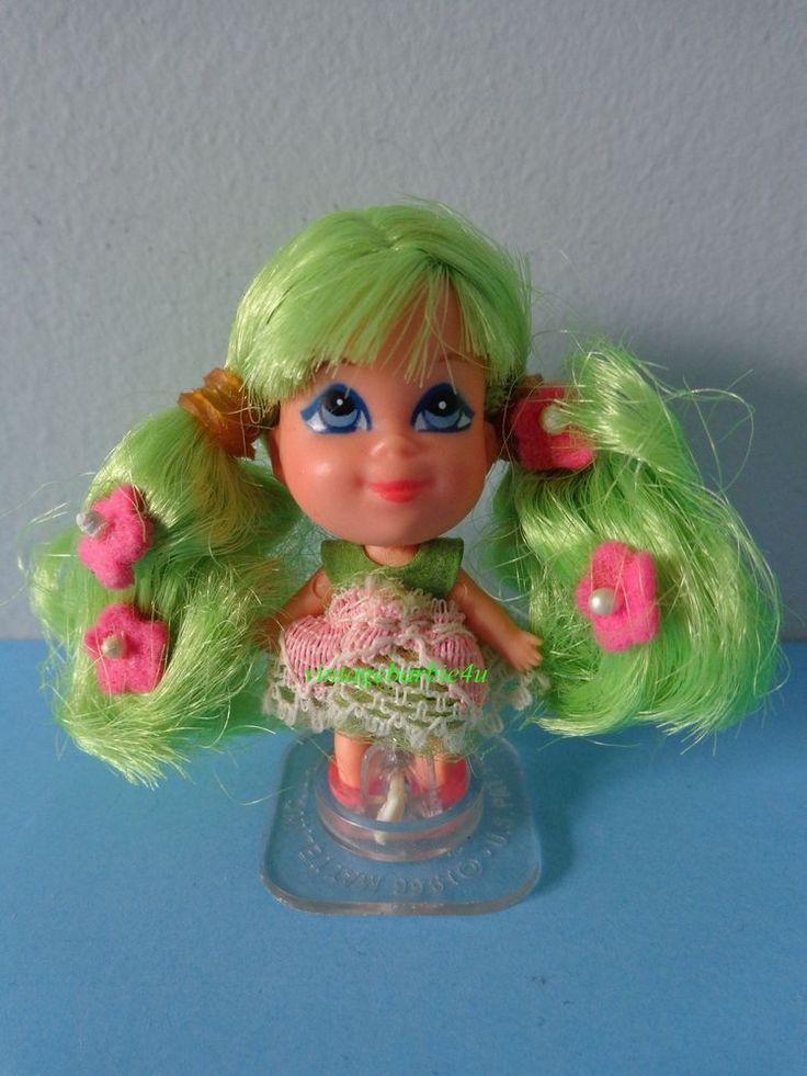 Vintage Liddle Kiddle Doll *Kolognes Apple Blossom #3707* Stand Hong Kong Mattel