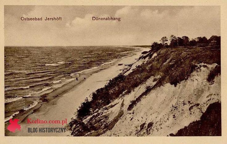 Pocztówka z Jarosławca niedatowana bez obiegu, Ostseebad Jershöft - Dünenabhang. Wydawnictwo: Verlag Albert Mewes Rügenwalde 510