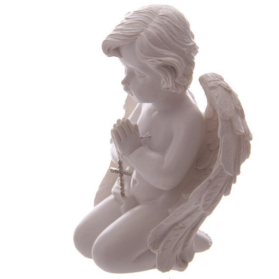 Ornament Kneeling Cute Cherub Angel Figurine by getgiftideas