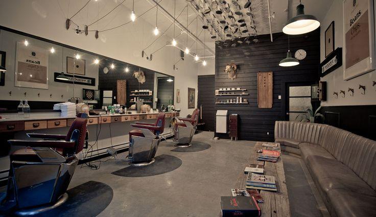 Dominion Barber Interior - Abbott St. in Vancouver