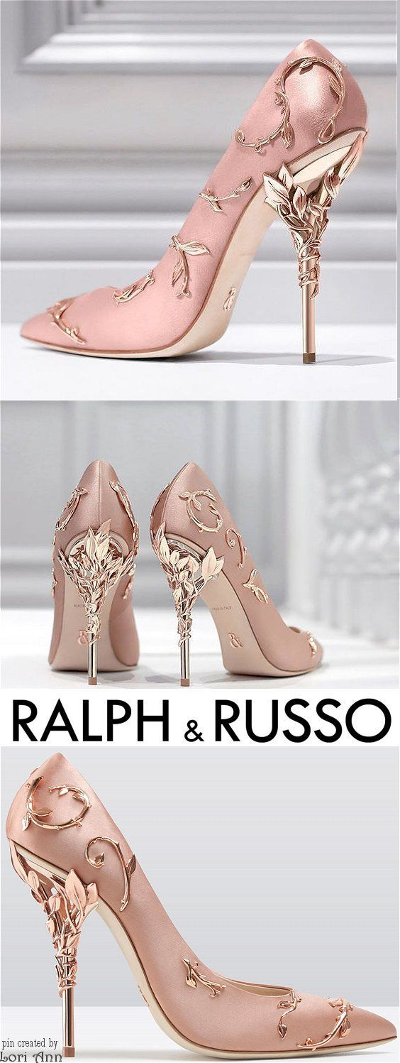 Ralph & Russo Eden Pump in Pink & Rose Gold