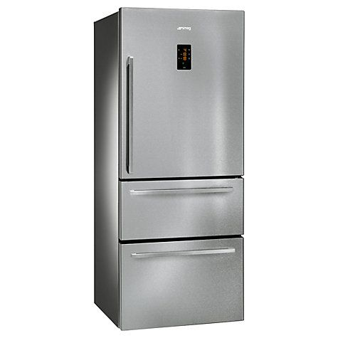 Buy Smeg FT41BXE 3-Door American Style Fridge Freezer, A+ Energy Rating, 75cm Wide, Stainless Steel Online at johnlewis.com