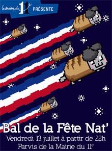 Bal de la Fête Nat -Mairie du 11e