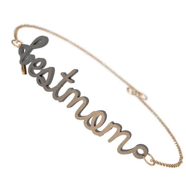 Gold plated steel best mom bracelet