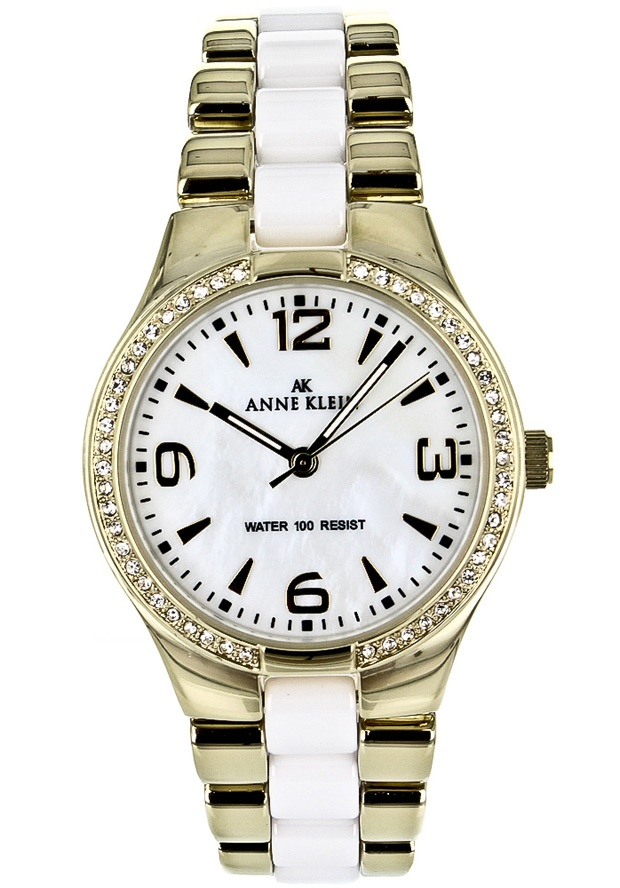 Price:$64.25 #watches Anne Klein 10-9118WTGB, Stainless steel case, Stainless steel bracelet, Mother of Pearl dial, Automatic movement, Scratch-resistant mineral, Water resistant up to 20 ATM - 200 meters - 660 ft