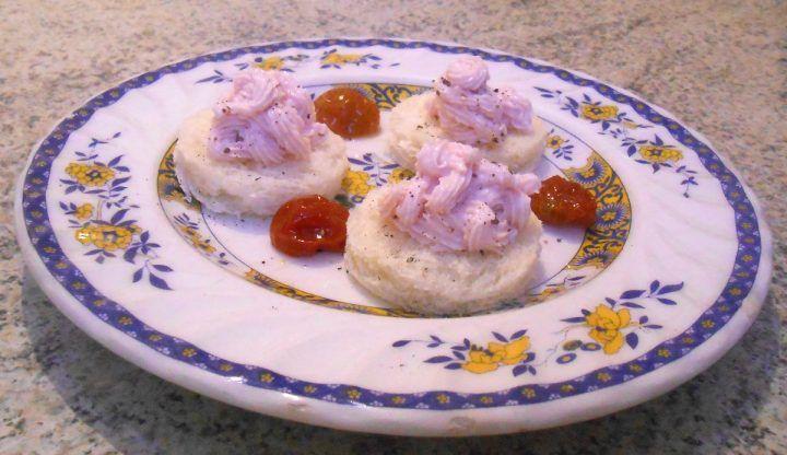 Mousse di prosciutto cotto, antipasto, merenda, piatto veloce