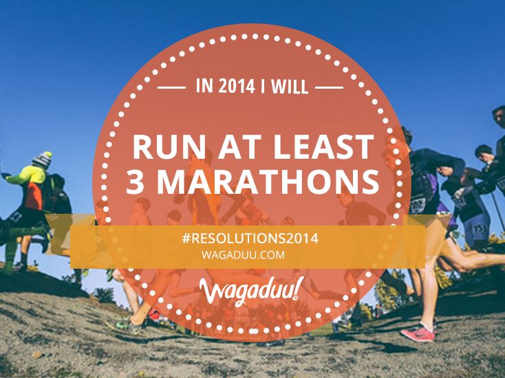 In the next 10 days we will share our #Resolutions2014, make them your own and repin or tell us yours in the comments below! #marathon #running