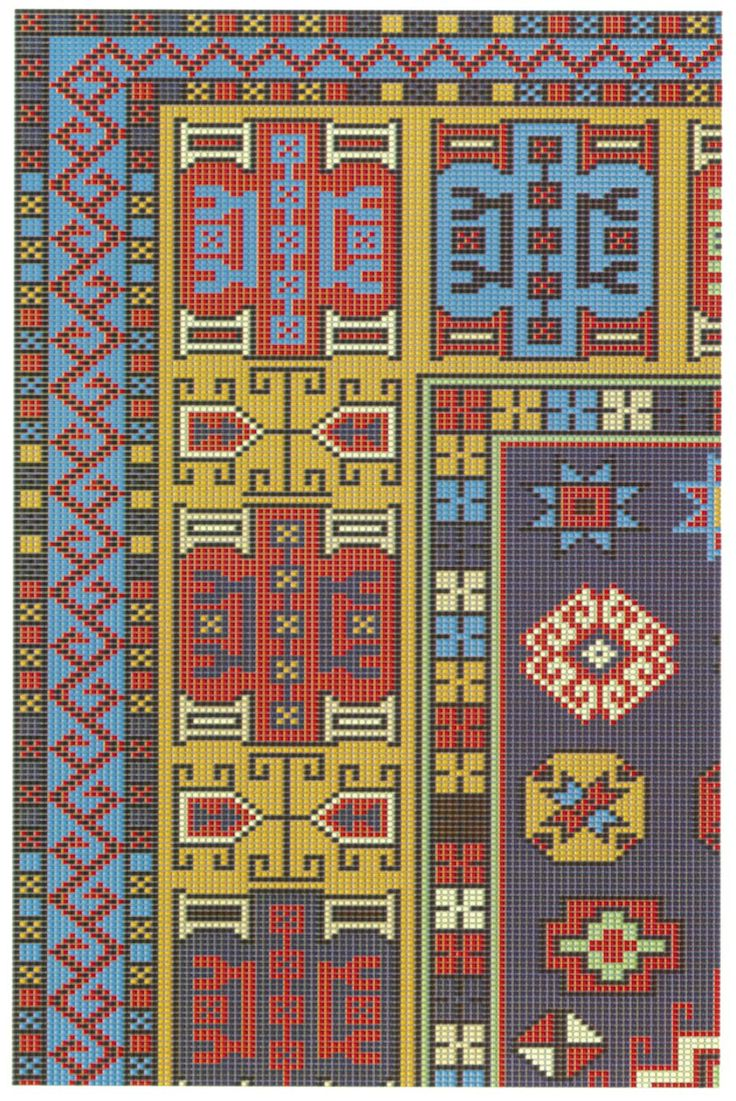 "Republic of Turkey Ministry of Culture ""Turkish Handwowen Carpet Project-Pattern No.0564-1"""