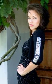 Black Bolero with Silver Sequins