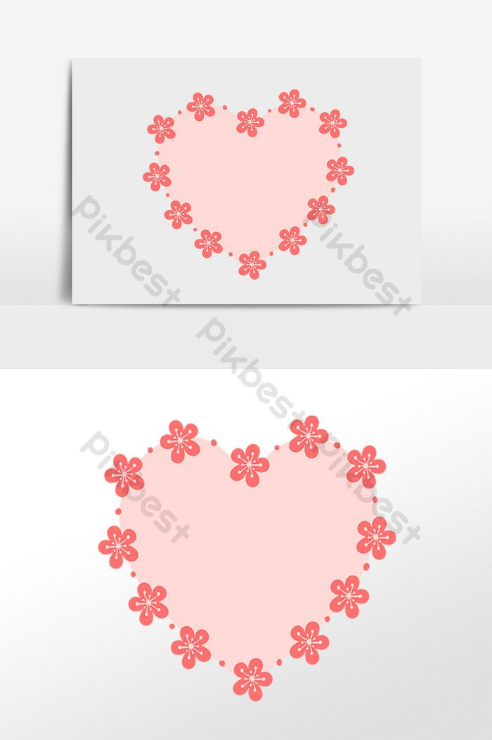 Red Flower Decoration Pink Peach Heart Border Png Images Psd Free Download Pikbest Red Flowers Heart Border Flower Border