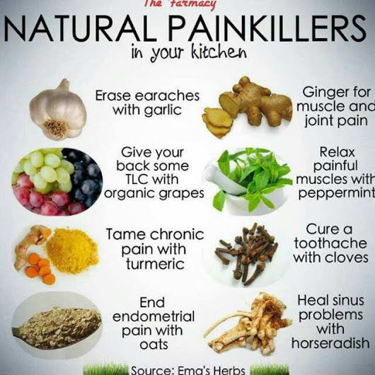 Natural Painkillers Health And Nutrition Remedies Arthritis