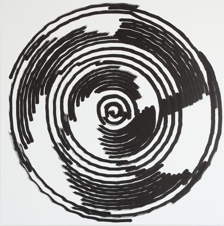 Simon Ingram, No 8, 7 Aug, 2014, sum 1234.857, Oil on Linen, 850 x 850mm