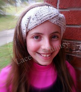 Triple Twist Headband features a one piece construction with a twist!