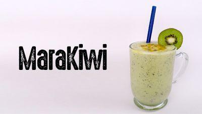 Aprenda a fazer essa batida MaraKiwi. Receita completa no site.